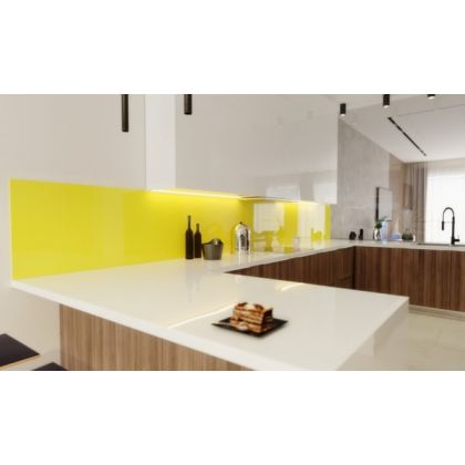 Yellow Acrylic Splashback