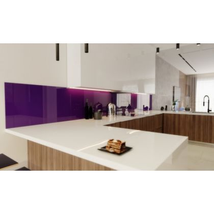 Purple Acrylic Splashback