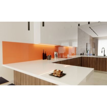 Orange Acrylic Splashback