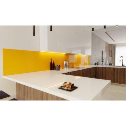 Mustard Yellow Acrylic Splashback