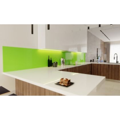 Lime Green Acrylic Splashback