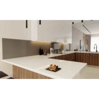 Light Grey Acrylic Splashback