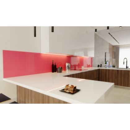 Pink Acrylic Splashback