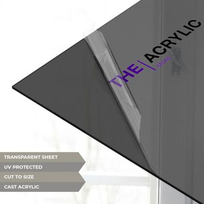 Dark Grey Tinted Acrylic Sheet
