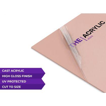 Gloss Baby Pink Acrylic Sheet