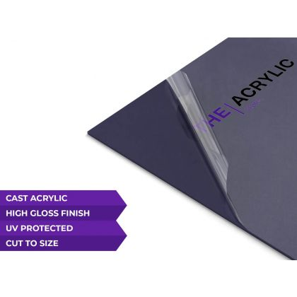 Gloss Dark Blue Acrylic Sheet