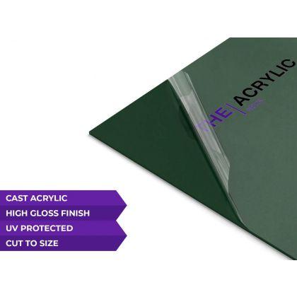 Gloss Dark Green Acrylic Sheet