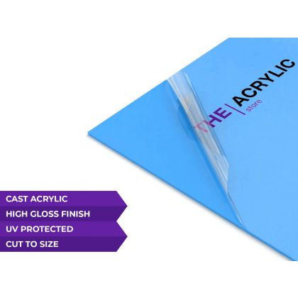 Gloss Light Blue Acrylic Sheet