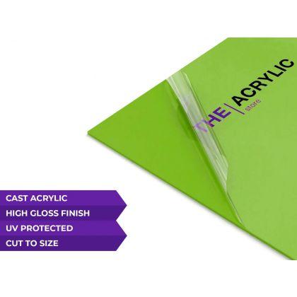 Gloss Lime Green Acrylic Sheet