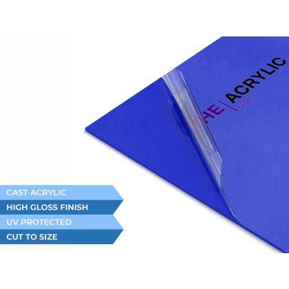 Gloss Mid Blue Acrylic Sheet