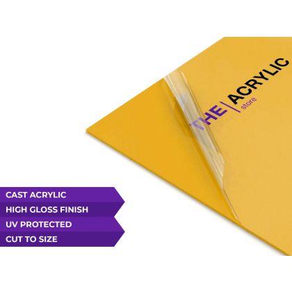Gloss Mustard Yellow Acrylic Sheet