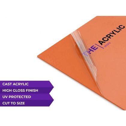 Gloss Orange Acrylic Sheet