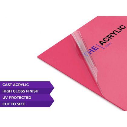 Gloss Pink Cast Acrylic Sheet