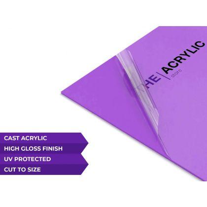 Gloss Purple Acrylic Sheet