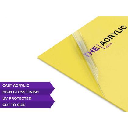 Gloss Yellow Acrylic Sheet