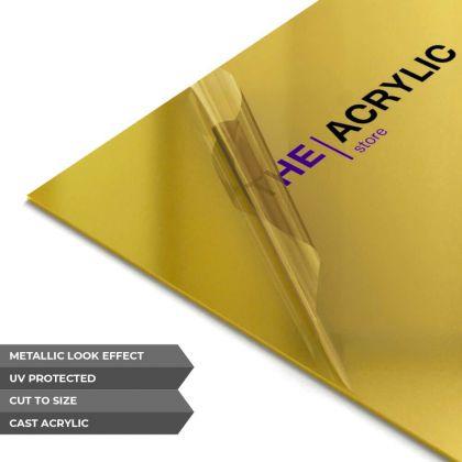 Gold Metallic Acrylic Sheet