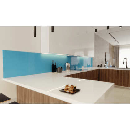 Light Blue Acrylic Splashback