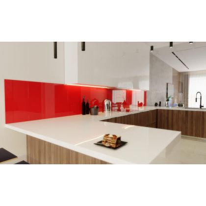 Red Acrylic Splashback