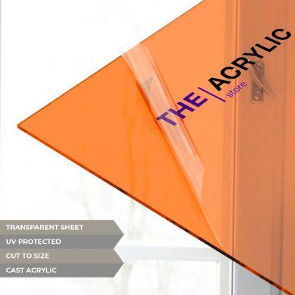 Orange Tinted Acrylic Sheet