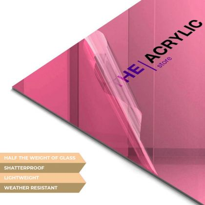 Pink Acrylic Mirror Sheet