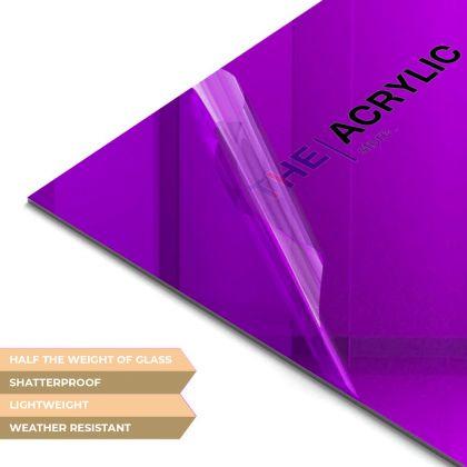 Purple Acrylic Mirror Sheet