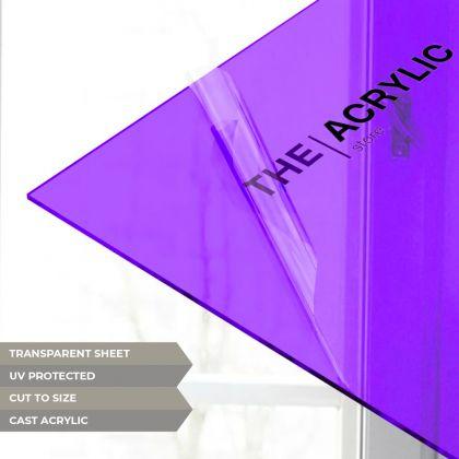 Purple Tinted Acrylic Sheet