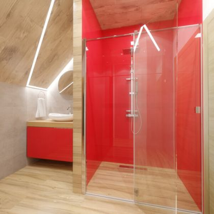 Red Acrylic Shower Panels