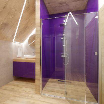 Purple Acrylic Shower Panels