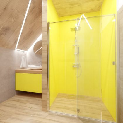Yellow Acrylic Shower Panels