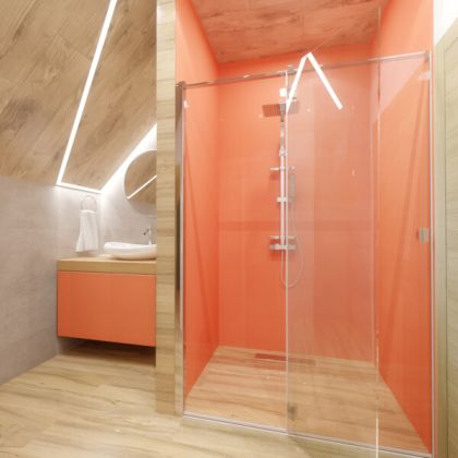 Orange Acrylic Shower Panels