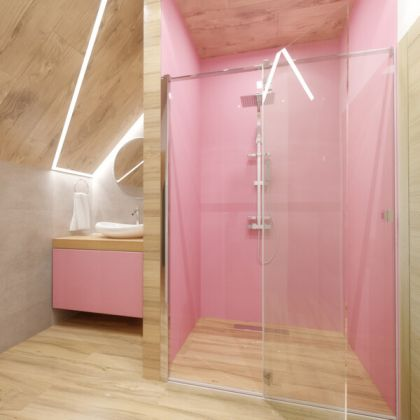 Baby Pink Acrylic Shower Panels