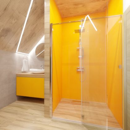 Mustard Yellow Acrylic Shower Panels