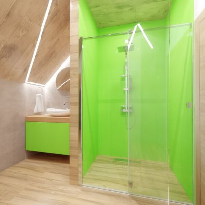 Lime Green Acrylic Shower Panels