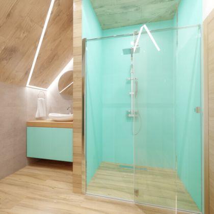 Turquoise Acrylic Shower Panels