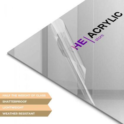 Silver Mirror Acrylic Sheet