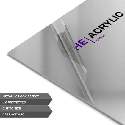 Silver Metallic Acrylic Sheet
