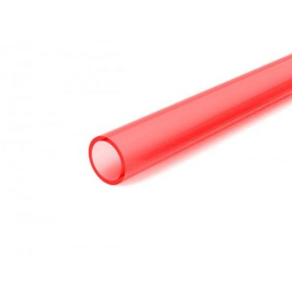 FLUORESCENT PINK RED ACRYLIC TUBE